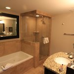 Master bathroom for the 1bd/2ba room