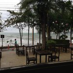 beach-front dining at hotel (White Elephant Restaurant)