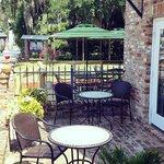 Blondie's patio dining area