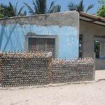 Medianera en casa de la isla del rosario