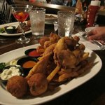 Fish and Frog legs.