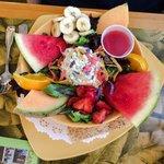 The Sweet Sage Salad Plate with Tuna Salad
