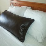 Leather pillow nice Western touch