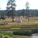 A Tepee in the campground nearby