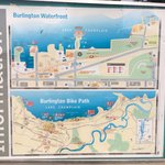 Waterfront and bike path map