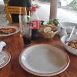 Poisson, légumes, Poulet curry et riz, un régal!