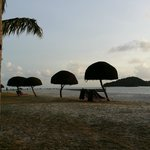 Sunset @ resort beach