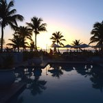 Breath taking view of the Cabana Bar & Grill, while dining at sunset.