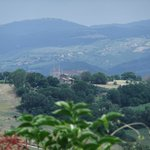 Distant view of Orvieto Cathedral from Porano