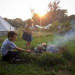 Kids, campfire, marshmallows.
