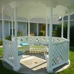 Gazebo - one of many places to sit outdoors