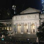ny public library at night