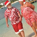 Santa and the Mrs, loved their Sandals vacation!