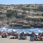 plage de matala (10mns à pieds)