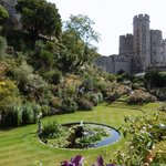 The gardens at Windsor Castle