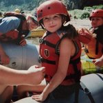 Maggie on her first rafting trip - photobombed by Red, our awesome guide!!!