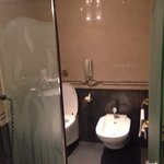 Separate toilette room within the bathroom