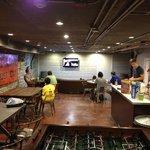 communal kitchen/dining/lounge area