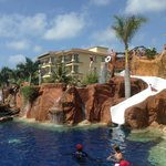 The diving cliff & waterslide