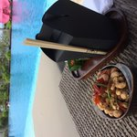 Lunch at the pool