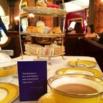 Afternoon Tea service; love the quote!