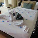 Towel art left by our lovely maid Jody, on our Anniversary!