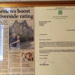 A wonderful article about Riverside Hotel