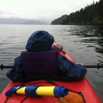 My son kayaking