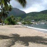 Beautiful beach in Soufriere