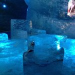 first exhibit in the ice cave!