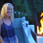 Rachel cooking the Chorizo A La Clara