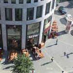 Blick nach unten in die Augsburger Strasse