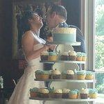 Wedding cupcake cake