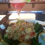 Great Crab/Shrimp salad and Cosmo!