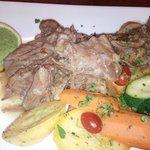 Braised lamb with veggies
