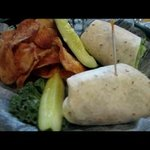 """The Trick"" Tuna Salad Wrap in a Garlic and herb tortilla"