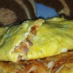 Ham and cheese omelet takeout