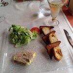 Pressé de foie gras and a glass of monbazillac
