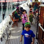 The kids aboard Raja Laut. They love the schooner although a couple of them got seasick.
