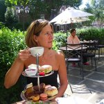 Delicious afternoon tea in the garden at the Colonnade,it doesn't get better than this