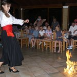 Greek firedancing at the Oasis