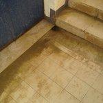 escalier qui mène au tobbogan