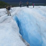 Small-groups on the glacier meant direct interaction with the guides.