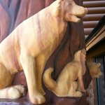 Wolves Carvings - Entrance