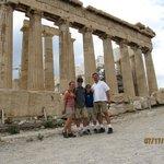 Family shot at the Parthenon