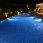 Pool lit at Night