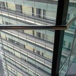 Glassed corridor between the 2 buildings... OH, GOD!!!