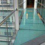 Glassed corridor