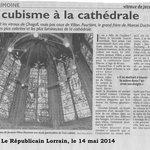 Article du Républicain lorrain du 14 mai 2014 sur la publication du livre sur les vitraux de Vil