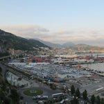 Vista del porto di Salerno dalla camera